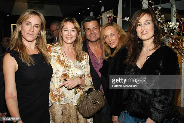 Sonja Morgan Kimberly DuRoss Douglas Hannant Patty Raynes and Maria Snyder attend ALLEGRA HICKS Boutique Opening at Allegra Hicks on March 14 2007 in...