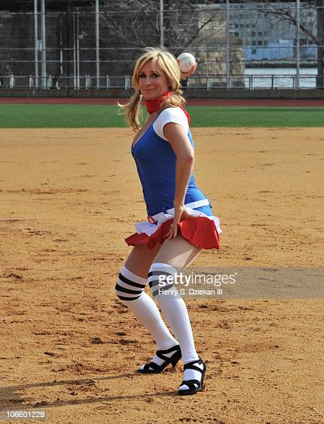 Sonja Morgan of The Real Housewives of New York City attends the Firefighters of NYC Softball Game at Verizon Athletic Field on November 6 2010 in...
