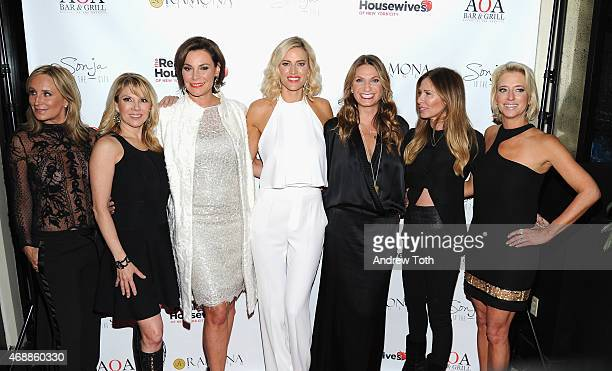 Sonja Morgan Ramona Singer Luann De Lesseps Kristen Taekman Heather Thomson Carole Radziwill and Dorinda Medley attend the 'Real Housewives of New...