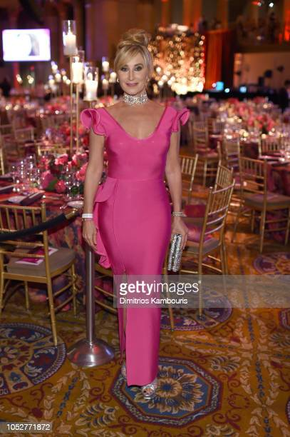 Sonja Morgan Real Housewife of New York City attends the 2018 Angel Ball hosted by Gabrielle's Angel Foundation at Cipriani Wall Street on October 22...