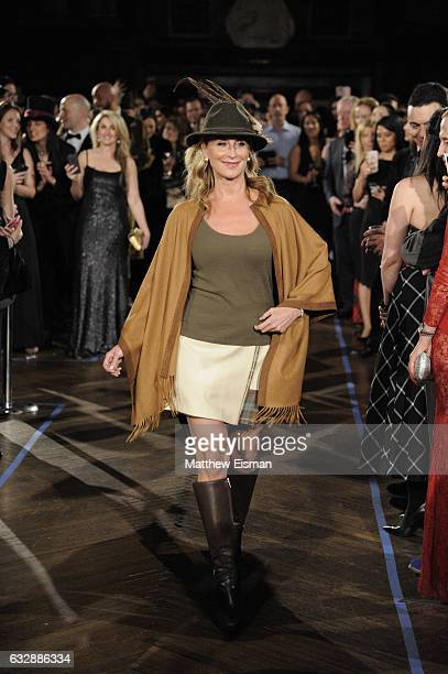 Sonja Morgan walks the runway during Dressed To Kilt Ball Fashion Show presented by Usquaebach Scotch Whisky The High Line Hotel SugarBearHair at The...