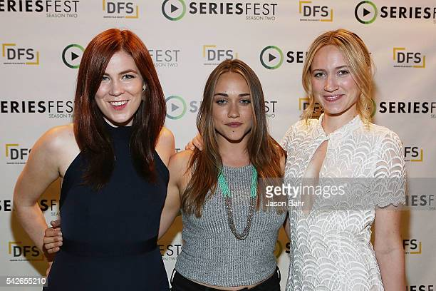 Sonja O'Hara Alice Kremelberg and Ellen Toland attend opening night of SeriestFest Season Two at Red Rocks Amphitheatre on June 22 2016 in Morrison...
