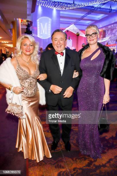 Sonja Schoenanger , Richard Lugner and Anastasia Mueller attend the Movie Meets Media night at Grand ElysÈe Hamburg on December 3, 2018 in Hamburg,...