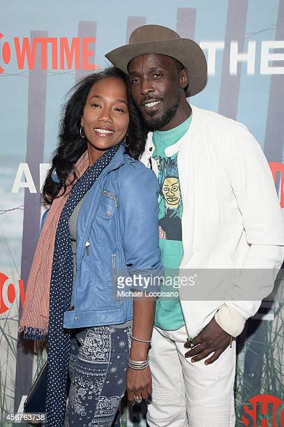 Sonja Sohn and Michael K Williams attend premiere of SHOWTIME drama The Affair held at North River Lobster Company on October 6 2014 in New York City