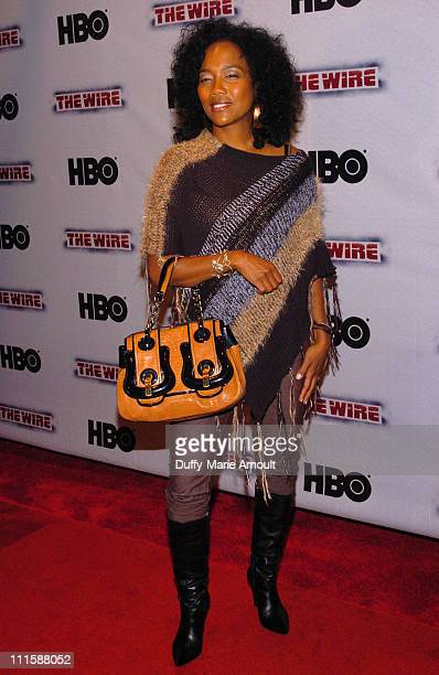 Sonja Sohn during HBO's The Wire New York Premiere September 7 2006 at Chelsea West Cinema in New York City New York United States