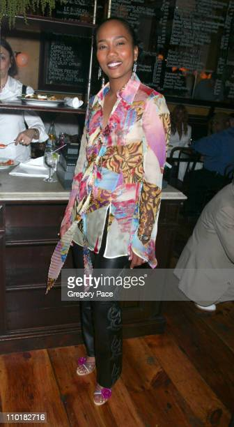 Sonja Sohn wearing a Versace blouse