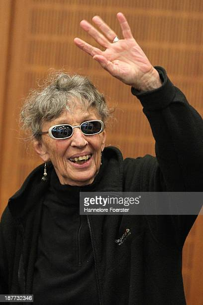 Sonja Suder arrives for the verdict in her trial for her alleged supporting role in the 1975 attack on OPEC headquarters in Vienna on November 12...