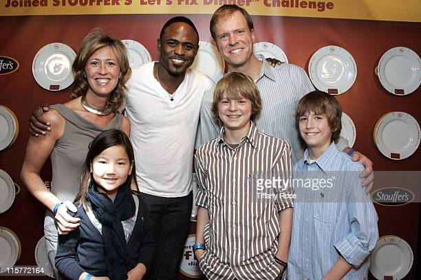 Sonja White Anna White actor Wayne Brady Director of Marketing of Stouffer's Brett White Nathan White and Jack White attend day 1 of Melanie Segal's...