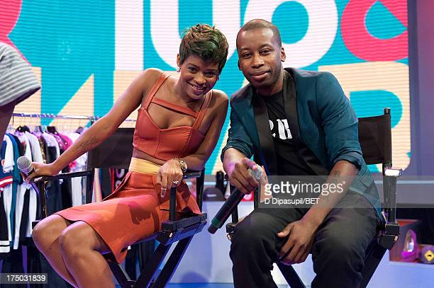 Sonja Williams and Joshua Johnson visit BET's '106 Park' at BET Studios on July 29 2013 in New York City