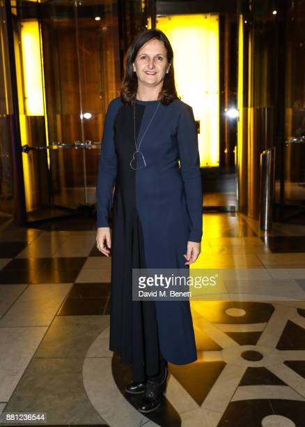 Sonja Zak attends the launch of the Circular Fibres Initiate Report 'Towards A New Textiles Economy' hosted by Dame Ellen MacArthur and Stella...
