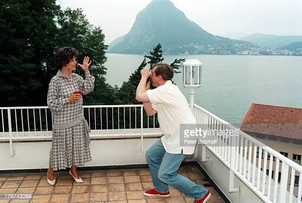 Sonja Ziemann mit HansJürgen SchatzLugano/Schweiz Ferienwohnung Homestory
