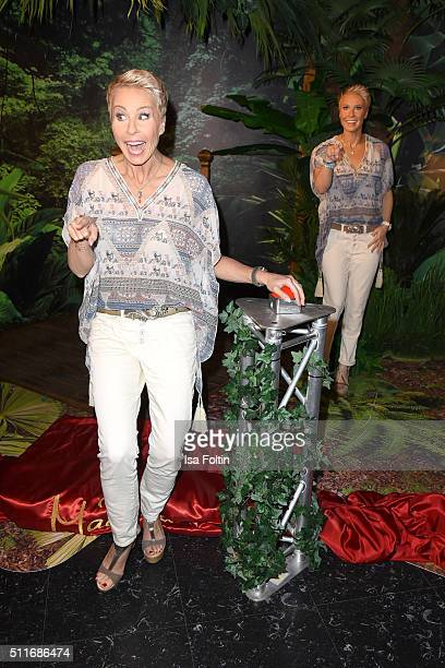 Sonja Zietlow Presents Her Own Wax Figure At Madame Tussauds on February 22 2016 in Berlin Germany