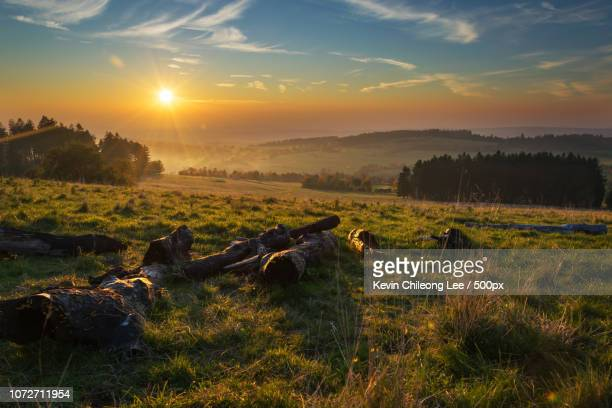 Sonnenuntergang am Hoherodskopf