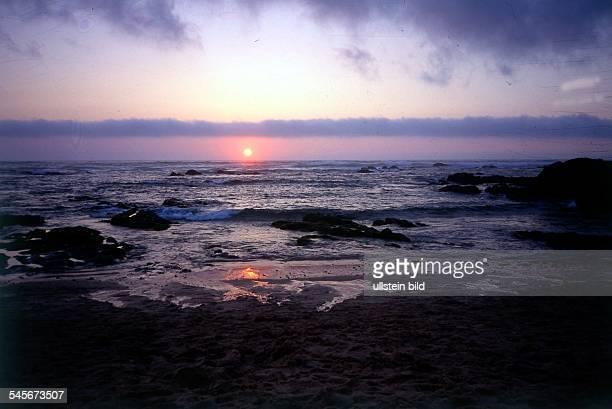 Sonnenuntergang am Strand von Almograve 1997