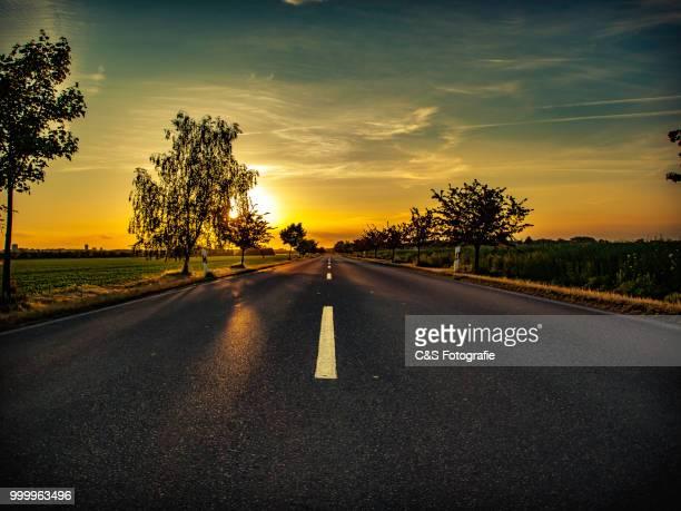 Sonnenuntergang auf dem Land
