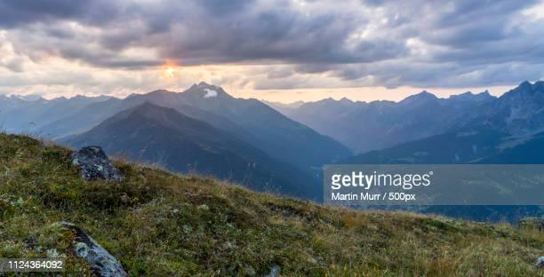 Sonnenuntergang Auf Der Gigglerspitze
