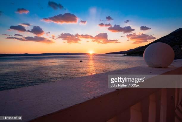 Sonnenuntergang Ber Der Adria