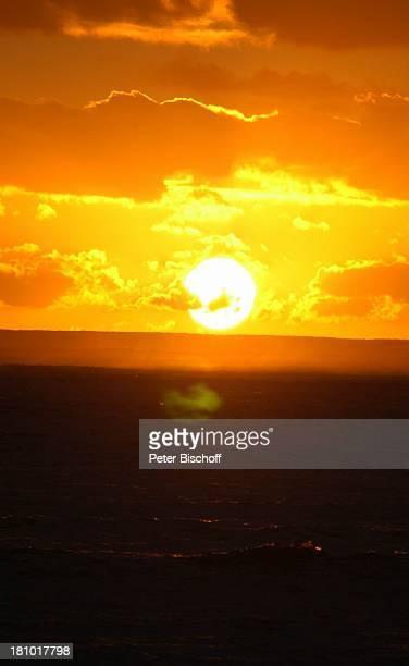 Dinarobin Le Morne/Mauritius Afrika Indischer Ozean Halbinsel Reise Horizont Sonne