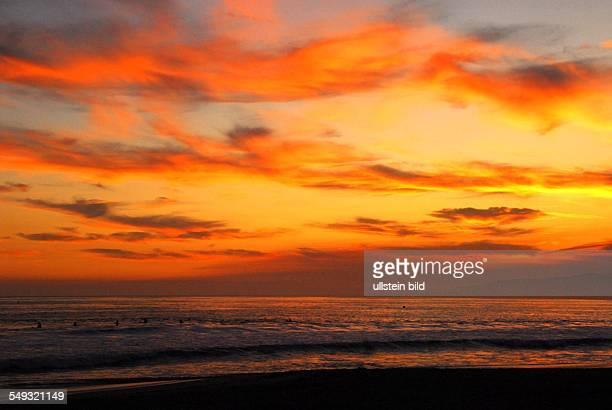 Sonnenuntergang in Santa Monica Kalifornien