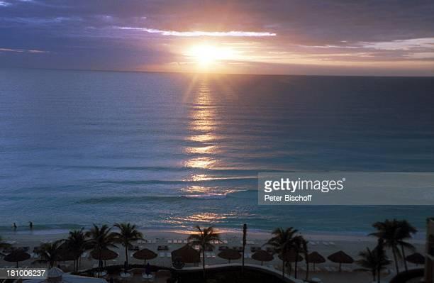 Sonnenuntergang Reise Cancun/Mexico/Mittelamerika Sonne Meer Gewässer Ozean