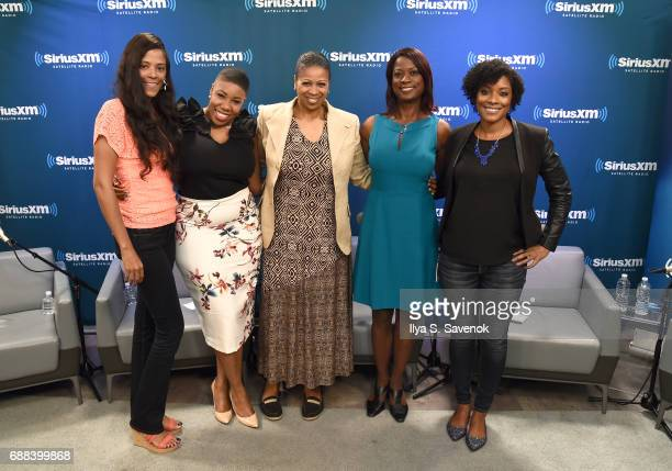 Sonnie Johnson Symone Sanders Karen Hunter Deneen Borelli and Zerlina Maxwell attend SiriusXM Presents The Black Female Vote Post Hillary hosted by...