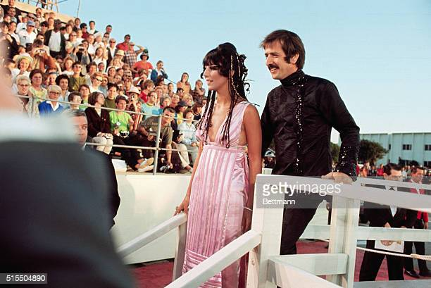 Sonny and Cher Bono at the Academy Awards Presentations