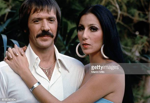 Sonny and Cher Bono pose for a promotional photo for The Sonny and Cher Show in 1970