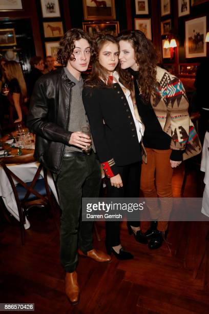 Sonny Ball Bee Beardsworth and Daisy Maybe attend the Polo Bear Holiday Dinner hosted by Polo Ralph Lauren and Alexandra Richards at RalphÕs Coffee...