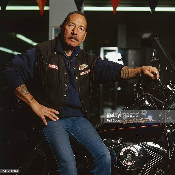 Sonny Barger founder of the Oakland California chapter of the Hell's Angels the infamous motorcycle club