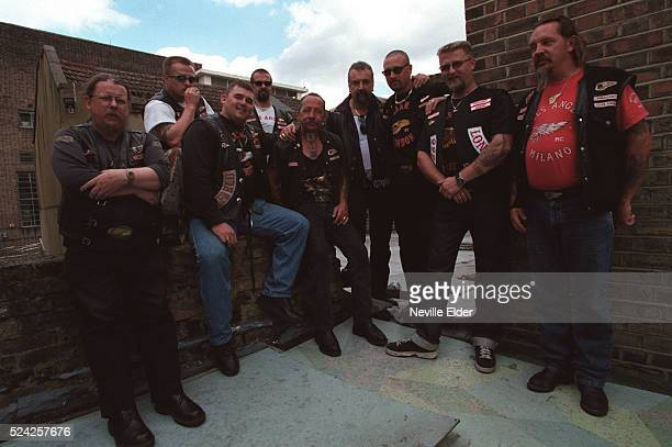 Sonny Barger patriarch of the Hell's Angels with some of his biker buddies Barger has just released his memoirs 'Hell's Angel' which can be ordered...