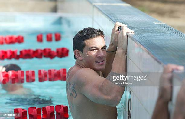 Sonny Bill Williams Canterbury Bulldogs player during a recovery session at Canterbury acquatic centre 12 March 2005 SHD Picture by JACKY GHOSSEIN