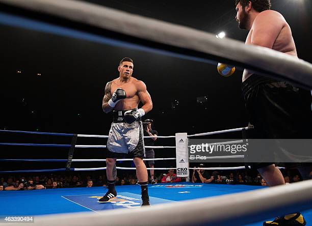 Sonny Bill Williams fights and wins against Chauncey Welliver over 8 rounds during the Footy Show Fight Night held at AllPhone Arena Olympic Park on...