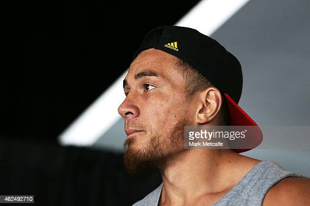 Sonny Bill Williams looks on during the weigh in ahead of Footy Show Fight Night at Allphones Arena on January 30 2015 in Sydney Australia
