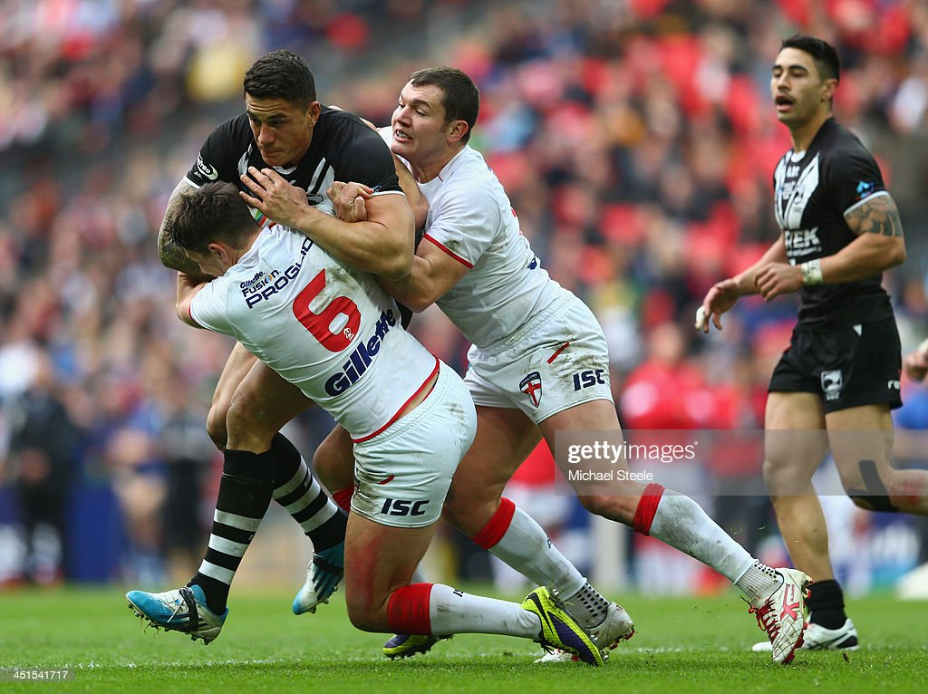 New Zealand v England - Rugby League World Cup Semi Final : News Photo