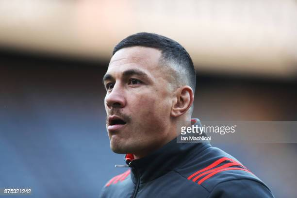Sonny Bill Williams of New Zealand is seen during the Captains Run at Murrayfield Stadium on November 17 2017 in Edinburgh Scotland
