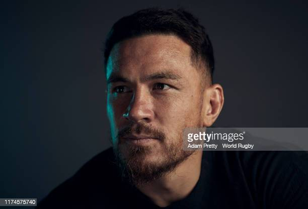 Sonny Bill Williams of New Zealand poses for a portrait during the New Zealand Rugby World Cup 2019 squad photo call on September 13, 2019 in...