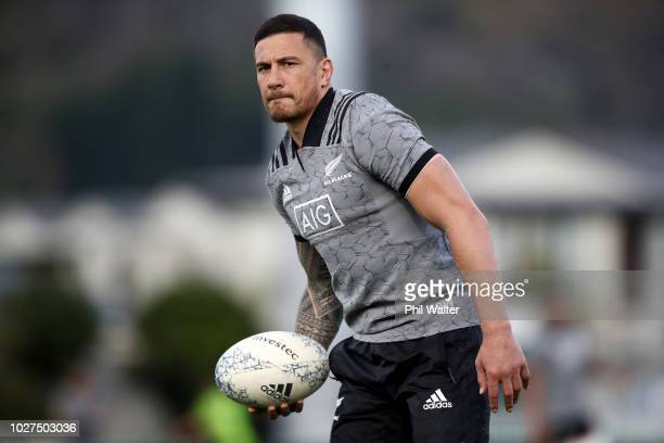 Sonny Bill Williams of the All Blacks during a New Zealand All Blacks training session at Trafalgar Park on September 6 2018 in Nelson New Zealand