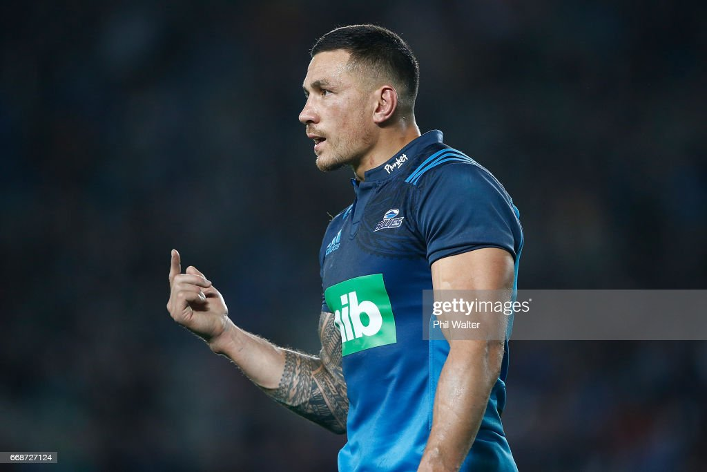 Sonny Bill Williams of the Blues during the round eight Super Rugby match between the Blues and the Hurricanes at Eden Park on April 15, 2017 in Auckland, New Zealand.