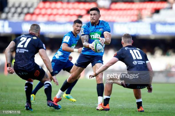 Sonny Bill Williams of the Blues during the Super Rugby round two match between The Sharks and The Blues at Jonsson Kings Park on February 23 2019 in...
