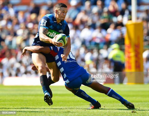 Sonny Bill Williams of the Blues in action during the Super Rugby match between DHL Stormers and Blues at DHL Newlands on March 17 2018 in Cape Town...