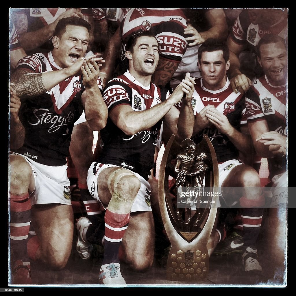 Sonny Bill Williams of the Roosters celebrates after winning the 2013 NRL Grand Final match between the Sydney Roosters and the Manly Warringah Sea Eagles at ANZ Stadium on October 6, 2013 in Sydney, Australia.