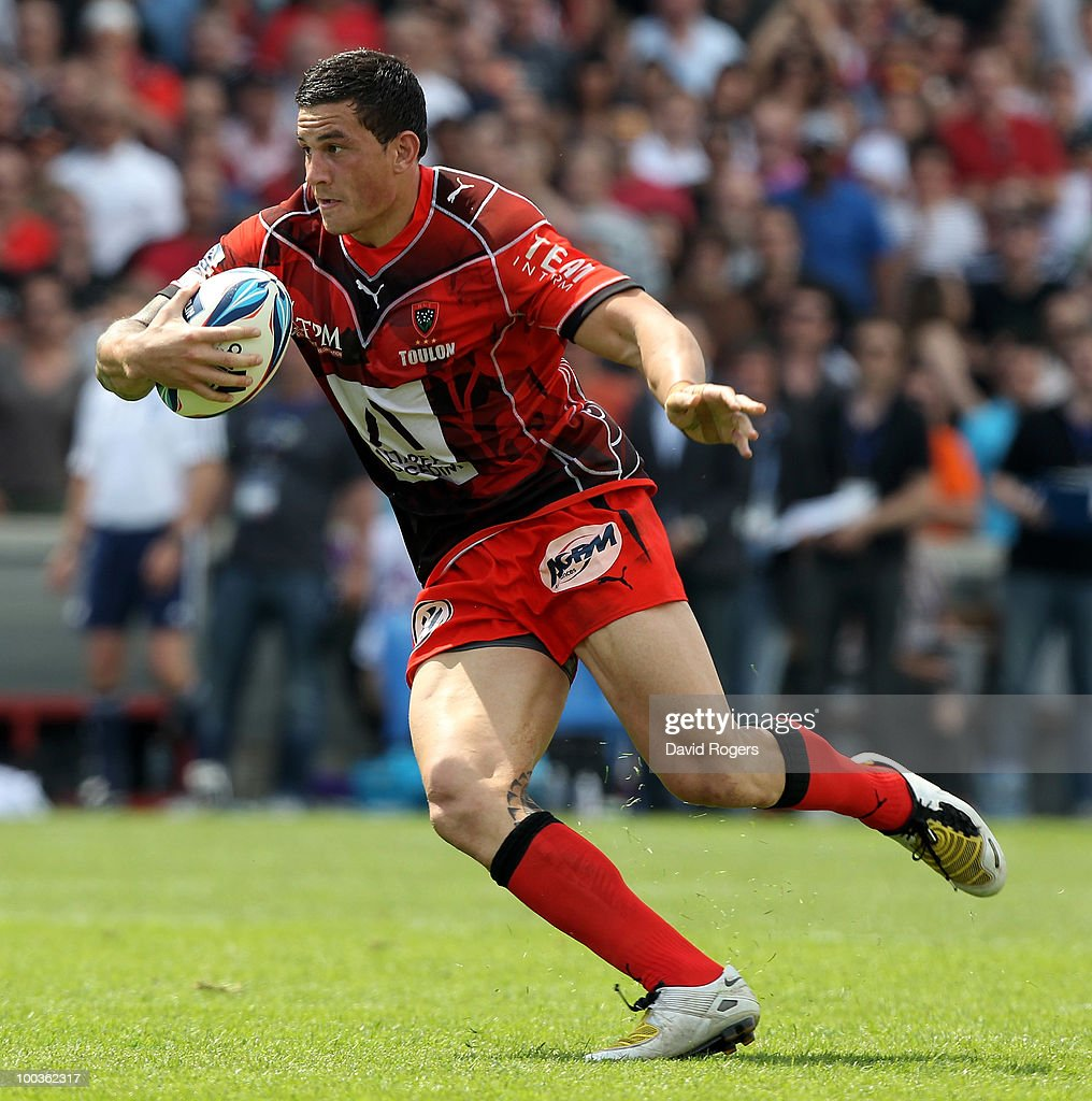 Sonny Bill Williams of Toulon runs with the ball during the Amlin Challenge Cup Final between Toulon and Cardiff Blues at Stade Velodrome on May 23, 2010 in Marseille, France.