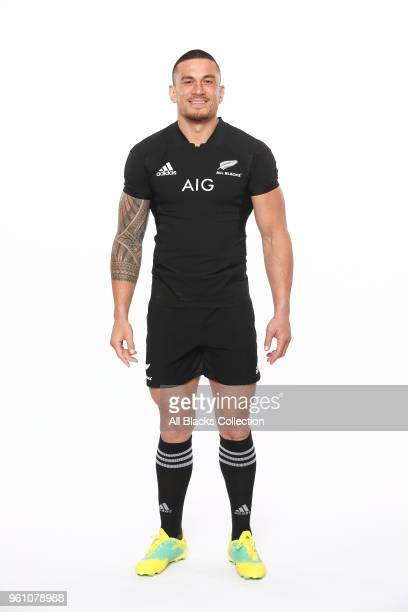 Sonny Bill Williams poses during a New Zealand All Blacks headshots session on May 21 2018 in Auckland New Zealand