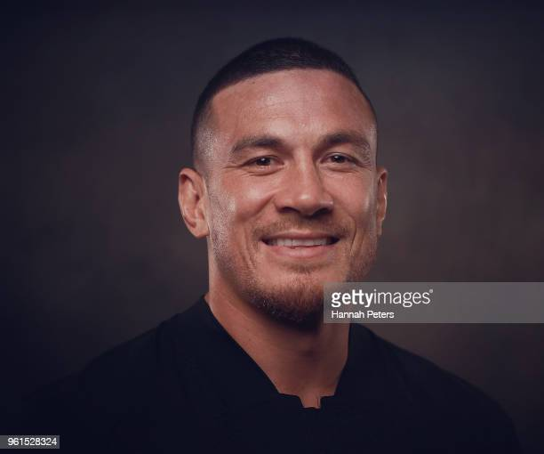 Sonny Bill Williams poses during a New Zealand All Blacks portraits session on May 21 2018 in Auckland New Zealand