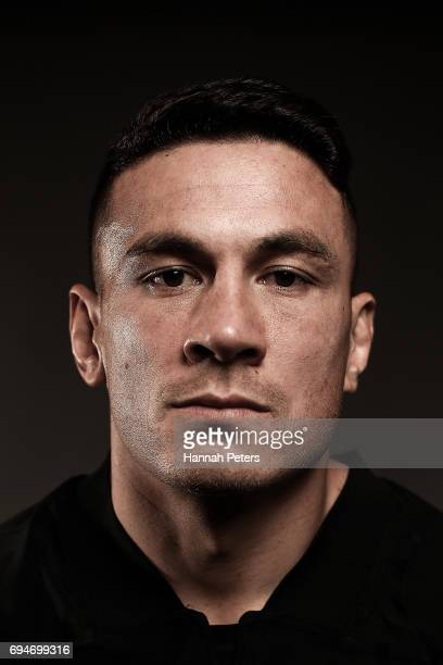 Sonny Bill Williams poses for a portrait during the New Zealand All Blacks Headshots Session on June 11 2017 in Auckland New Zealand