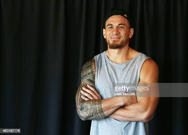 Sonny Bill Williams smiles during the weigh in ahead of Footy Show Fight Night at Allphones Arena on January 30 2015 in Sydney Australia