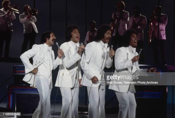 Sonny Bono Brett Hudson Mark Hudson Bill Hudson the Hudson Brothers appearing on the ABC tv series 'The Sonny Comedy Revue'