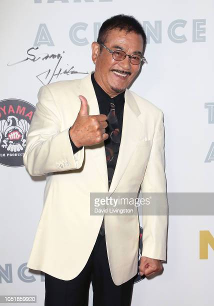 Sonny Chiba attends the world premiere of the new Japanese/American coproduction of the feature film 'Take a Chance' at ArcLight Hollywood on October...