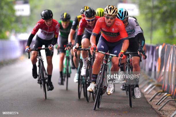 Sonny Colbrelli of Italy and Bahrain Merida Pro Cycling Team / during the 3rd Velon Hammer Series 2018 Stage 1 a 77km race from Vaals to...