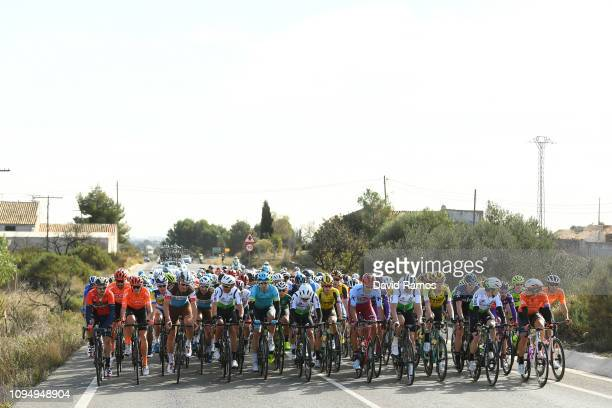 Sonny Colbrelli of Italy and Team Bahrain Merida / Alessandro De Marchi of Italy and CCC Team / Silvan Dillier of Switzerland and Team Ag2R La...